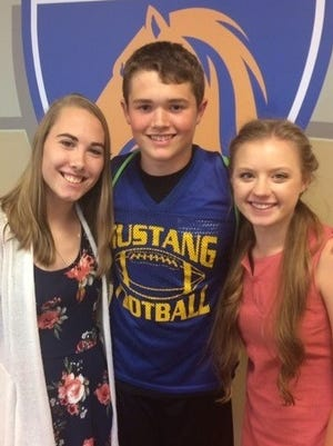 Breanna Cook, Rocky Vance and Brenna Woodfin were chosen for the 2017 All-State Choir.