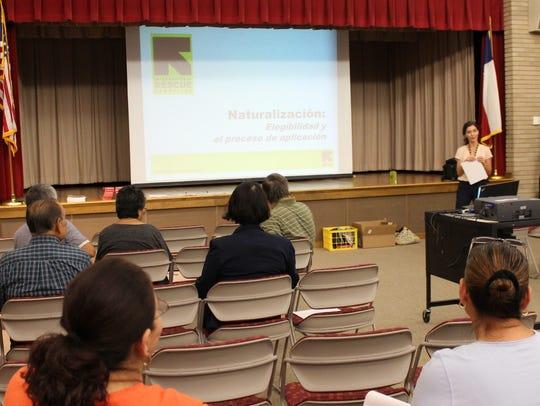 Former IRC immigration case worker Angela Remus talks