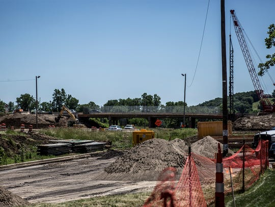 Construction continues on the Three Rivers Bridge replacement