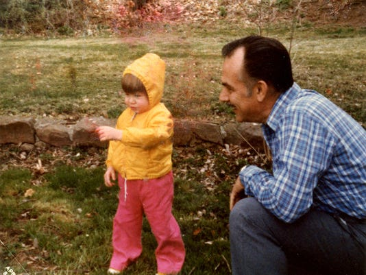 Joan Concilio and her father, Louis Concilio, are seen in the spring of 1984 enjoying some time outdoors together on the family's Dover Township farmette. Submitted