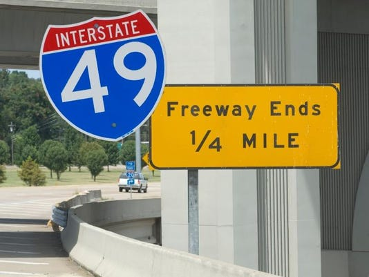 I-49 signs