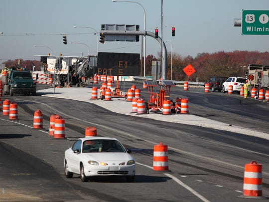 Beginning Saturday, motorists driving through the Del. 1 and Del. 72 interchange will be driving in the oppposite lane than what they are used to.