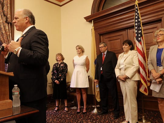 During a Monday morning press conference, State Senate