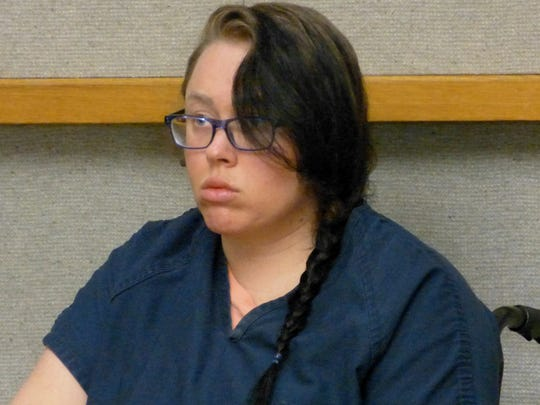 Grace Ward waits for her case to be called Tuesday in Shasta County Superior Court.