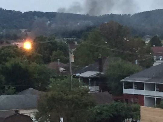 A two-alarm fire was reported at West York Sporting