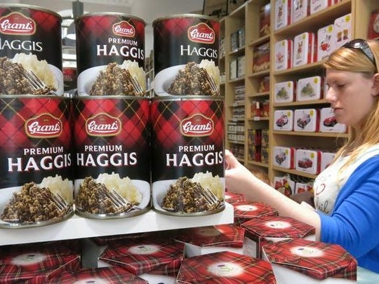Canned haggis is a popular meat treat in Scotland. However, haggis made using sheep lung has been banned for import to the United States since 1971.
