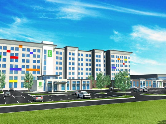 An artist's rendering of the planned Embassy Suites in Noblesville.