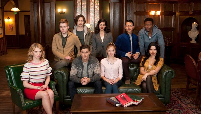 'In the Vault,' a new series set to air Sept. 13 on go90.com, stars Murfreesboro native Audrey Whitby, seated in the center of the couch, along with Claudia Lee, Timothy Granaderos, Caleb Castille, Paul Karmiryan, Taylor Gray, Julia Kelly, Sadie Schwolsky and Jac Bernhard.