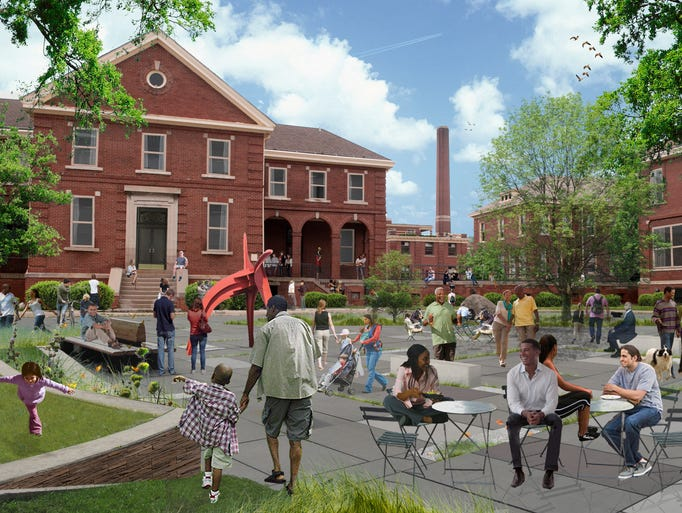 Future campus vision for the Herman Kiefer buildings.
