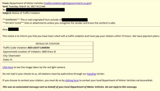 Email scam.