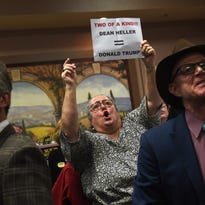 Photos: Protesters confront Heller, Amodei in Carson City