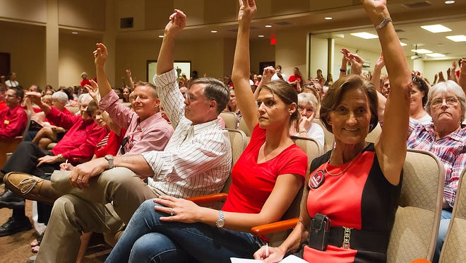 More than 200 people turned out Wednesday for a school board meeting at the Lee County Education Center in Fort Myers. The board voted to opt-out of standardized testing at that meeting.
