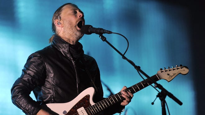Thom Yorke of Radiohead performs during the 2012 Coachella Festival.