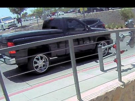 The suspect's vehicle is seen in a still from security camera footage.