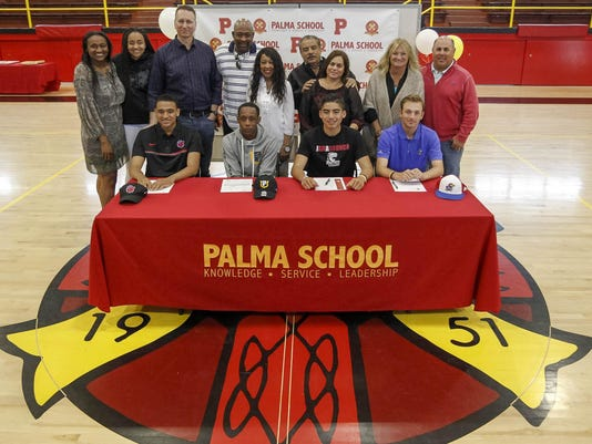 Palma Athletes ceremonial Letter of Intent Signing