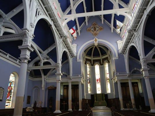 The renovated interior of St. John's Episcopal Church
