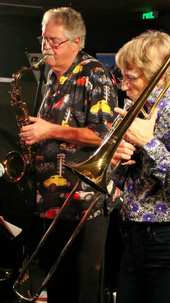 Saxophonist Pete Christlieb and trombonist Linda Small