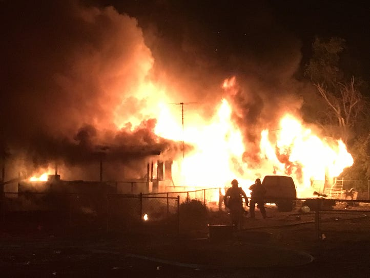 Tulare County Fire Department was called just before