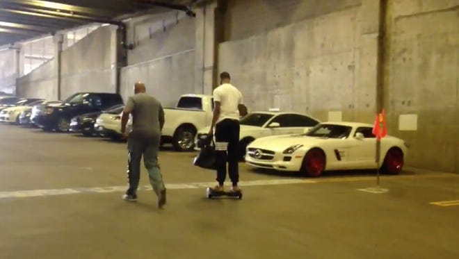 Markieff Morris left the Suns facility on a hoverboard.