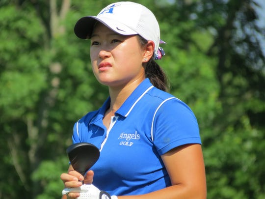 Holy Angels senior Kelly Sim had seven birdies and two bogeys and shot 5-under 67 to win the NJSIAA 18th Girls Golf Championship at Royce Brook Golf Club in Hillsborough on Tuesday, May 29.