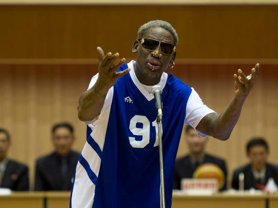 Dennis Rodman sings Happy Birthday to North Korean