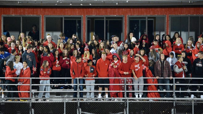 The student body was out in full force to watch Somers take on New Rochelle in a Night of Champions boys soccer game Sunday, Oct. 1, 2017.