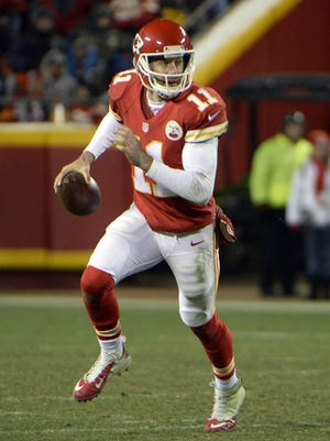 Kansas City Chiefs quarterback Alex Smith has thrown for 873 yards with nine touchdowns and no interceptions in three career playoff games.