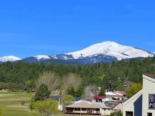 Sierra Blanca Peak in late March snow