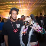 Shakee McKardey and Alyssa Tirone are having a great time partying at the Relentless Beats' New Year's Eve party at Decadence on Wednesday, Dec. 31, 2014, at Rawhide Western Town on the Gila River Reservation.