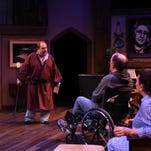 Charles (Bruce Meahl) confronts other characters in Centre Stage's stylish 'A Party to Murder'