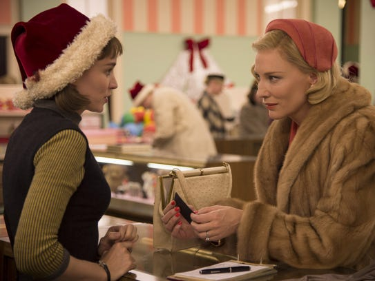 Rooney Mara (left) and Cate Blanchett appear in a scene