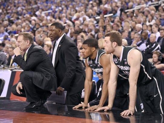 MSU head coach tom Izzo, associate head coach Dwayne