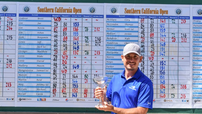At age 34 Westlake Village golfer Mike McCabe is playing some of the best golf of his career. He recently won the Southern California Open by nine shots.