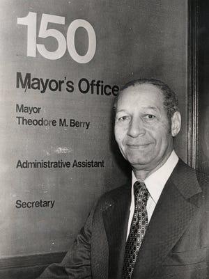Theodore M. Berry enters office in 1972 as the city's first African-American mayor.