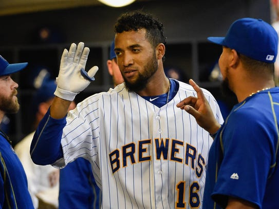 Milwaukee acquired Domingo Santana from the Astros