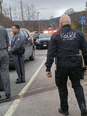 The Suffern Police Department assisted numerous agencies including the New York State Police, Ramapo Police and several New Jersey police departments in stopping an allegedly stolen flatbed truck from New Jersey on Jan. 2, 2017.