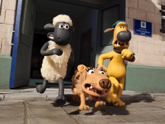 "Comic misadventures befall ""Shaun the Sheep."""