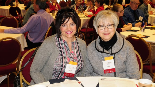 Lori Cardinal, director of Hospital Nursing Resources at St. Agnes Hospital, and Marge Whitinger, director of GI Endoscopy Services & Neuro/Sleep Services at St. Agnes Hospital, were among more than 1,000 hospital supporters at the annual Wisconsin Hospital Association's Advocacy Day event.