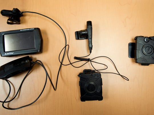 The Burlington Police Department has used three generations of wearable cameras. From left, the Pro, Flex and the current version, the Body Cam.