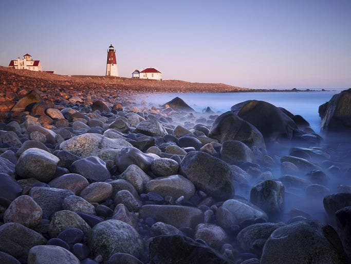 Rhode Island, the 13th state to join the Union and the smallest by land area, features more than 400 miles of coastline and loads of culture, all packed into a tiny package. Pictured here is Point Judith Lighthouse.