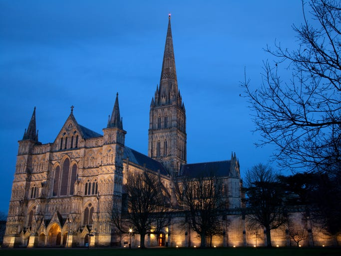 One of Britain's finest medieval churches,                                                           Salisbury                                                          Cathedral