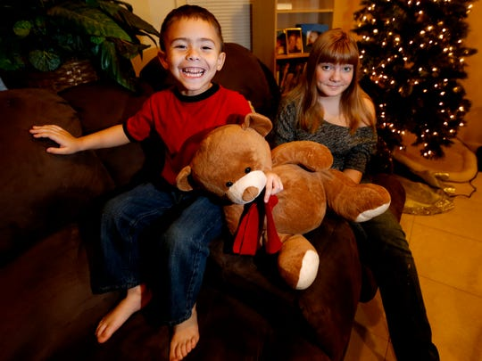 A back-in-the-day photo of McKenna Pope, then 13, and brother Gavyn Boscio, then 4, at their home in Garfield. Pope started a petition demanding that Hasbro make its Easy-Bake Oven more boy-friendly. She was inspired to do so when Gavyn put the oven on his Christmas wish list and she and their mother, Erica Boscio, found the toy only available with girls on the packaging and in pink or purple colors.