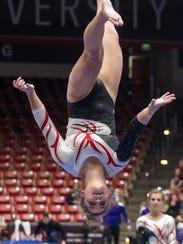 Southern Utah University junior Kamryn Bayer competes