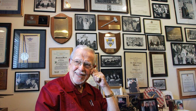 """Hank Lacayo was there when many important events happened and a  room in his Newbury Park home, dubbed the """"Forrest Gump room"""" by some, reflected that."""