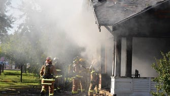 A nearly 100-year-old historic house in Glendale's Catlin Court district suffered extensive fire damage on Oct. 24, 2016.