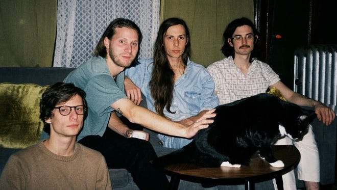 """Bonny Doon, from left: Jake Kmiecik, Bill Lennox, Bobby Colombo and Joshua Brooks. The band set out to make """"Longwave,"""" its new album, """"spontaneous and uninhibited."""""""