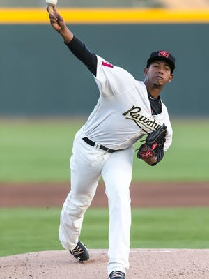 Visalia Rawhide pitcher Jose Almonte was one of six Rawhide players selected to represent the North Division All-Stars at the 2017 California League All-Star Game.