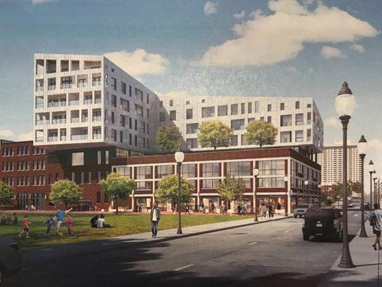 Rendering of plans for redevelopment of the historic