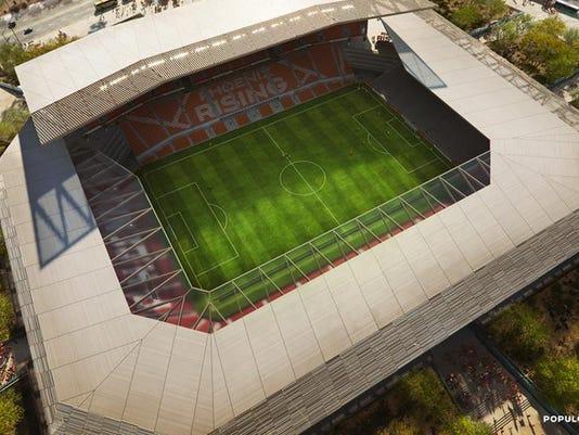 Phoenix Rising unveils $250 million stadium