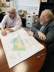 Sleepy Hollow Mayor Ken Wray, left, and David Schroedel,